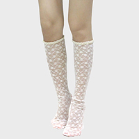 Flower Knee High Socks