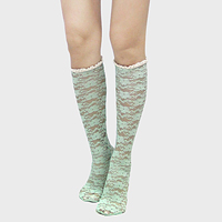 Big Flower Knee High Socks