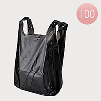 100 PCS - Extra Large Black Plastic Bags