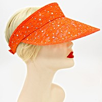 Sequined Floral Lace Visor Hat