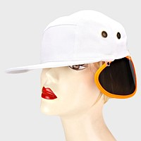 1-pair UV Clip On Shade Panel for Hats