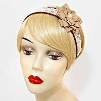 Flower Accented Lace Headband