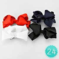 24 PCS - Bow Hair Clips