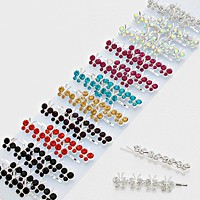 24 PCS - Assorted Crystal Butterfly Hair Pins