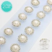 24 PCS - Pearl & Crystal Hair Pins