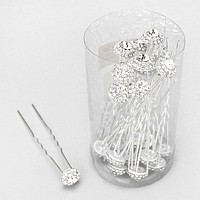 24-PCS Crystal Hair Sticks
