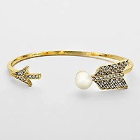 Pearl Accented Arrow Bracelet