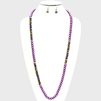 Stone Accented Pearl Necklace