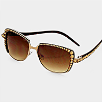 Crystal Accented Sunglasses