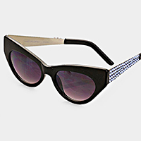 Crystal Accented Cat Eye Sunglasses