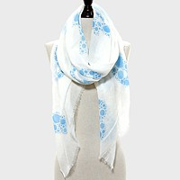 Water Drop Cluster Print Pareo / Scarf