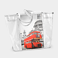 Translucent See-Through Summer Tote Bag