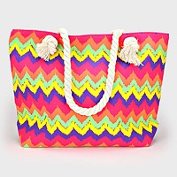 Chevron Pattern Tote Bag