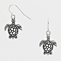 Enamel Turtle Earrings