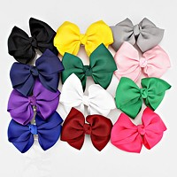 12 PCS - Bow Hair Barrettes