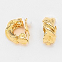 Twisted Metal Clip on Earrings