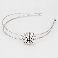 Crystal Pave Basketball Game Headband