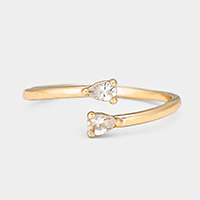 Crystal Trimmed Midi Ring