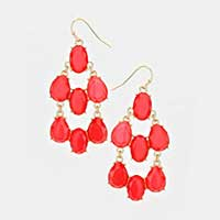 Teardrop Cluster Earrings