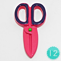 12 PCS - Scissors Resin Cabochons