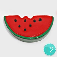 12 PCS - Watermelon Resin Cabochons