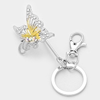 Ombre Butterfly Keychain / Bag Charm