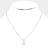 Crystal CZ Pendant Necklace