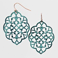 Floral Metal Cut out Earrings