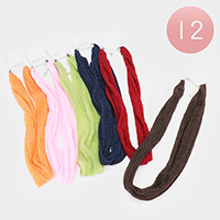 12PCS - Fabric Necklaces