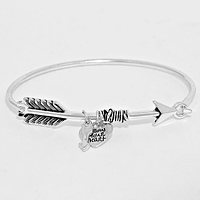 FOLLOW YOUR HEART ARROW BRACELET
