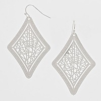 Diamond Cut out Earrings