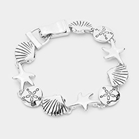 Starfish & Shell Link Magnetic Bracelet