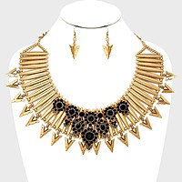 Tribal Spike Collar Necklace