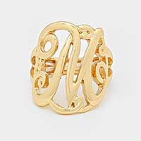 'M' Monogram Stretch Ring