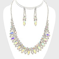Marquise Crystal Rhinestone Collar Necklace
