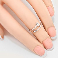 Feathered Arrow Cuff Midi Ring