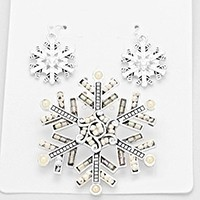 Pearl Snow Flake Pendant Set