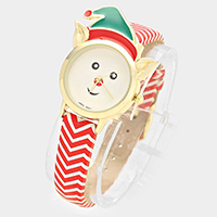 Rudolph Dial with Christmas Hat Watch