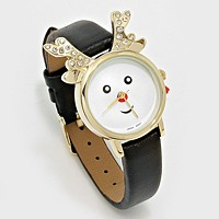 Christmas Rudolph Dial Watch