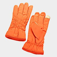 Fleece lined smart gloves