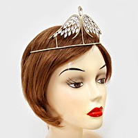 Crystal Rhinestone Angel Wings Tiara