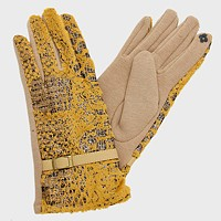 Fleece Lined Snakeskin Gloves