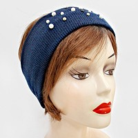 Pearl Accented Knit Headband / Ear Muff