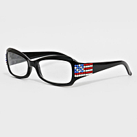Crystal American Flag Reading Glasses