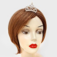 Teardrop Crystal Rhinestone Mini Tiara