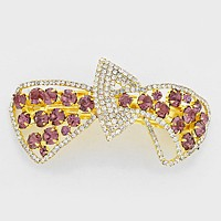 Crystal Bow Hair Barrette
