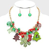 Christmas Ornament Ball Tree Necklace