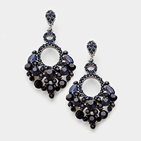 Crystal rhinestone statement chandelier evening earrings
