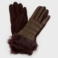 Fur & Fleece Lined Cotton Padding Gloves