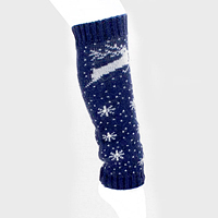 Snow Flake & Rudolph Knit Leg Warmers